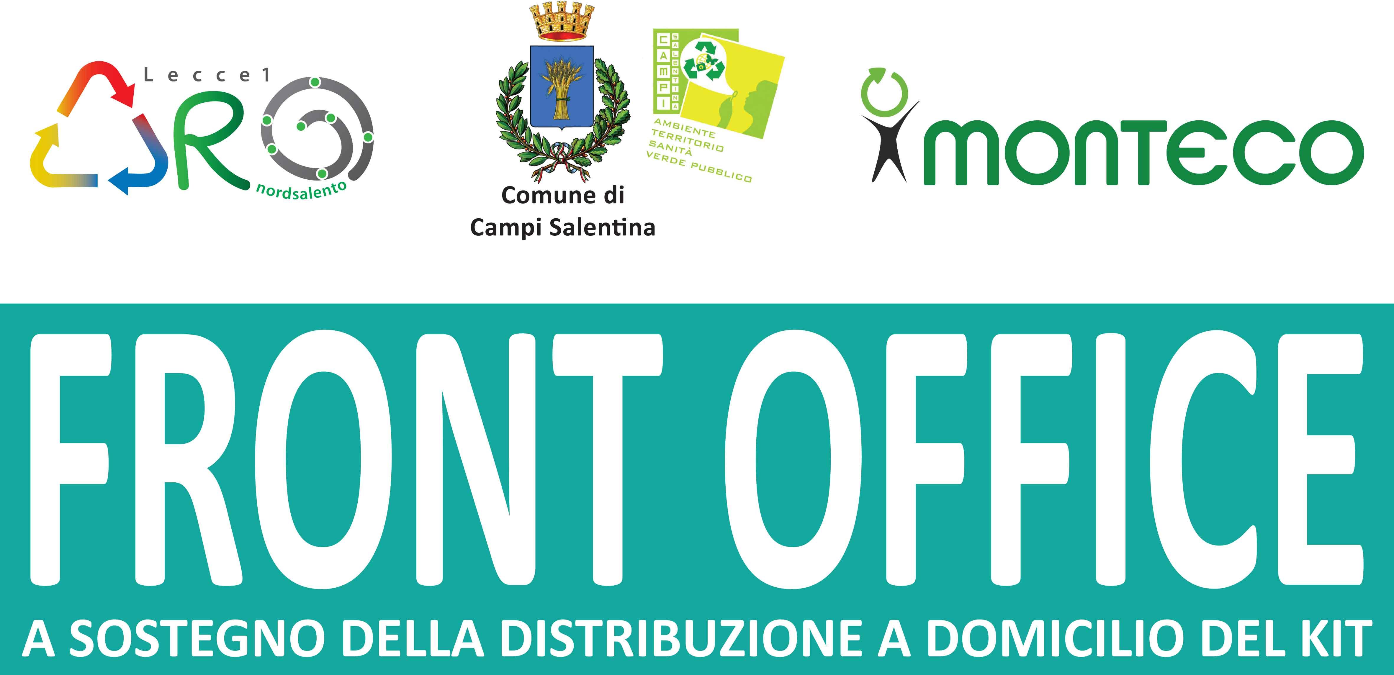 Campi Salentina. Apre il Front Office a sostegno della distribuzione a domicilio del kit