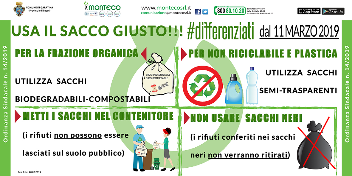 Monteco Calendario Galatina 2021 Galatina. Ordinanza Sindacale n. 14/2019 | Monteco Srl .it