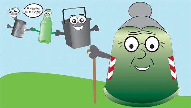 Dal 20 febbraio le campane stradali andranno in pensione e vetro-metalli saranno raccolti porta a porta