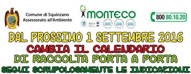 Squinzano: dal primo settembre cambia il calendario di raccolta porta a porta